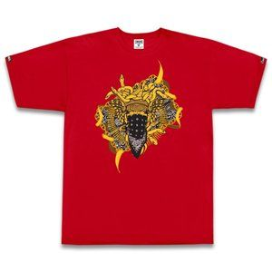 Crooks & Castles Medusa Ribbon SS Tee - Red